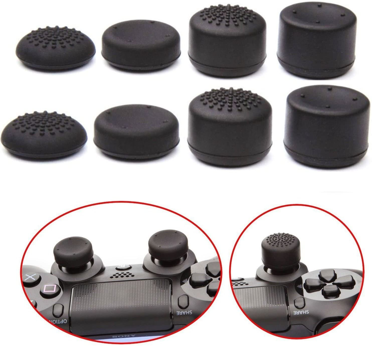 Heighten Extra Height Thumbstick Thumb Grip Stick Joystick Grips Silicone Rocker Cap For Xbox One / Xbox one Slim S / Xbox one X / xbox one elite Controller