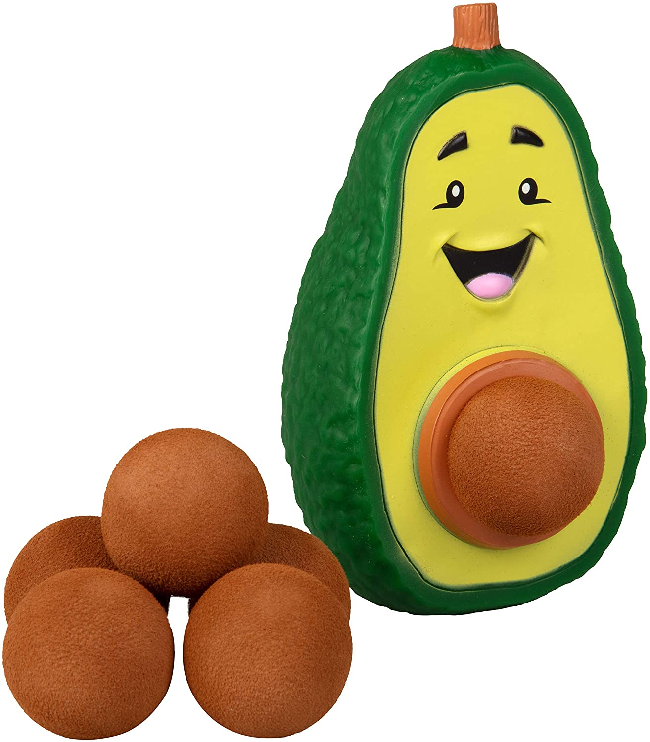 Hog Wild Avocado Popper Toy - Shoot Foam Balls Up to 20 Feet - 6 Balls Included - Age 4+