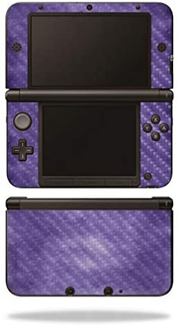 MightySkins Carbon Fiber Skin for Nintendo 3DS XL Original (2012-2014) - Purple Airbrush | Protective, Durable Textured Carbon Fiber Finish | Easy to Apply, Remove, and Change Styles | Made in The USA