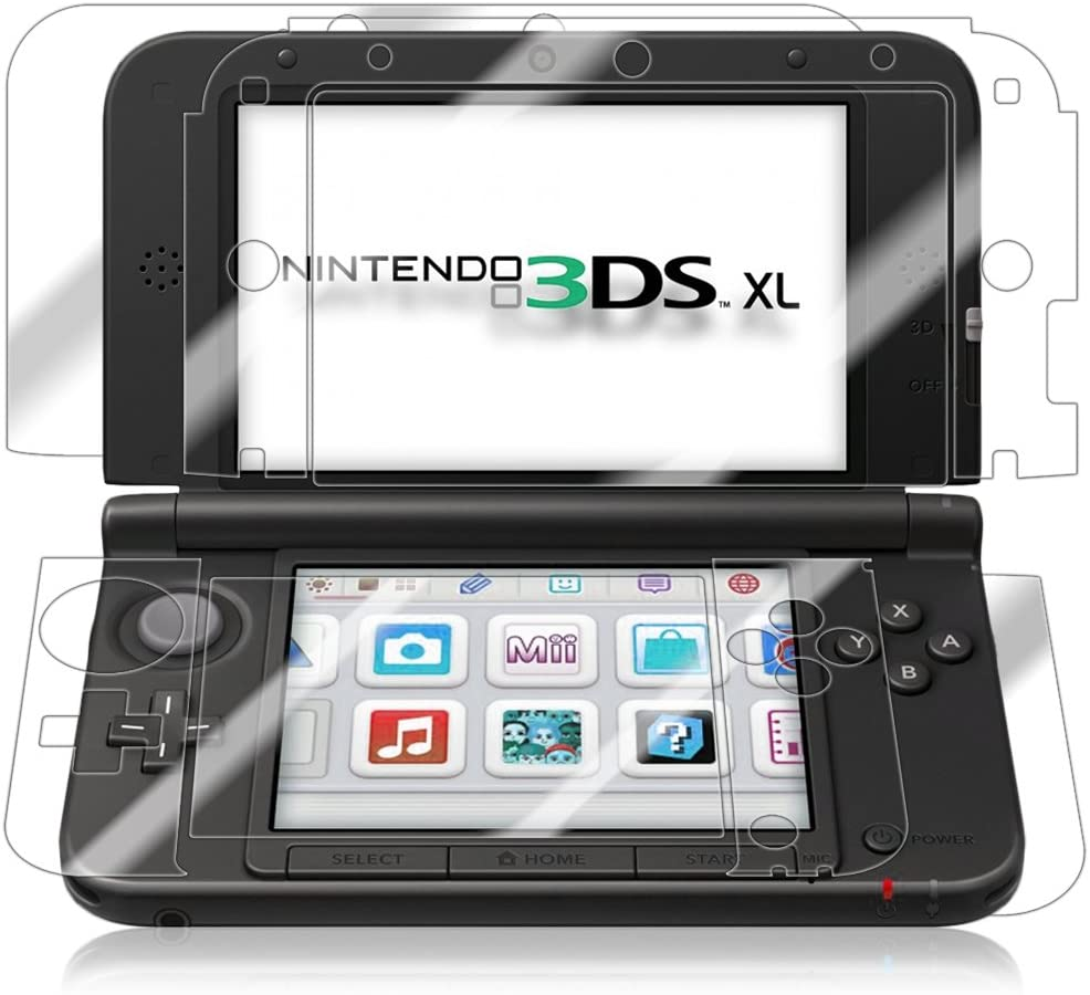 Skinomi Full Body Skin Protector Compatible with Nintendo 3DS XL (2012, 1st Gen)(Screen Protector + Back Cover) TechSkin Full Coverage Clear HD Film