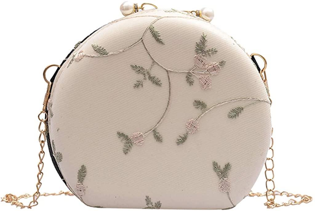 Redacel Mini Crossbody Bags For Women Peach Heart-shaped Lace Crossbody Shoulder Bag Clutch Bag
