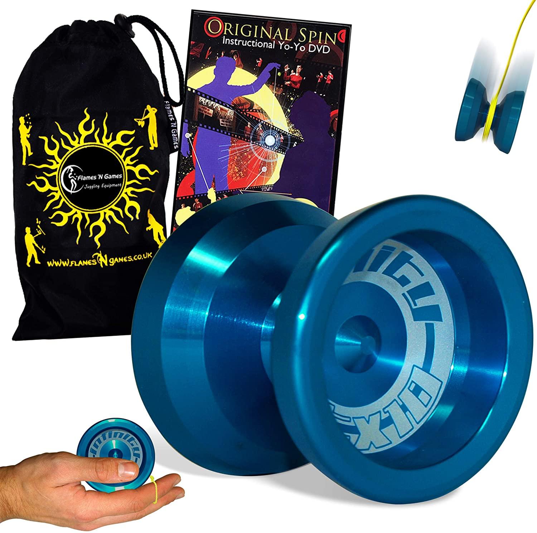Infinity TX10 Metal Butterfly Shaped Yoyo - Supreme Quality Medium Yo yo for Pros + Original Spin DVD + Travel Bag! Ideal Yo-Yo for Competitions and 1A Tricks