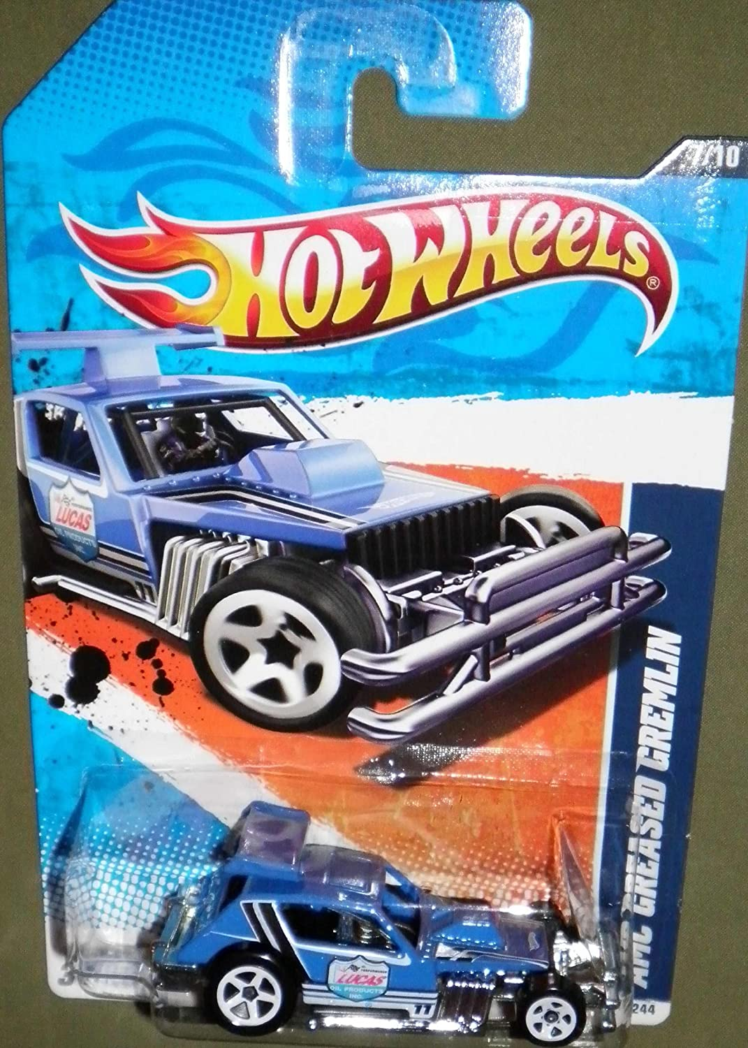 HOT WHEELS 2011 HW PERFORMANCE 7/10 BLUE AMC GREASED GREMLIN