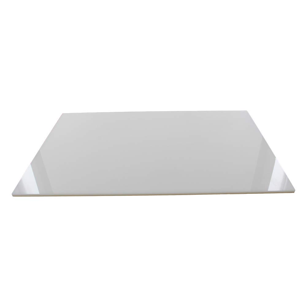 Fielect Acrylic Sheet A3 White Acrylic Sheet Plastic Plexi Glass Board for Picture Frames Sign Holders DIY Display 5mm Thick 420mm x 297mm 1Pcs