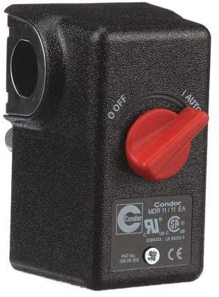 Pressure Switch, DPST, 80/100 psi, Diaphrgm