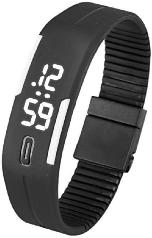 IEason,Mens Womens Rubber LED Watch Date Sports Bracelet Digital Wrist Watch (M)