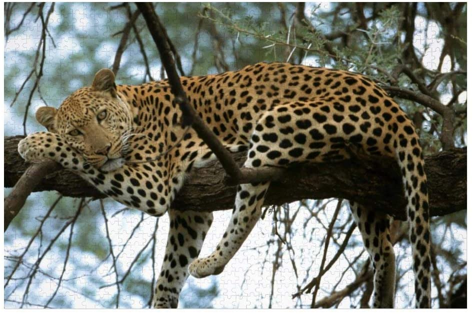 Animal Leopard 3D Jigsaw Puzzle 1000 Pieces Wooden Puzzles for Adults Educational Toys