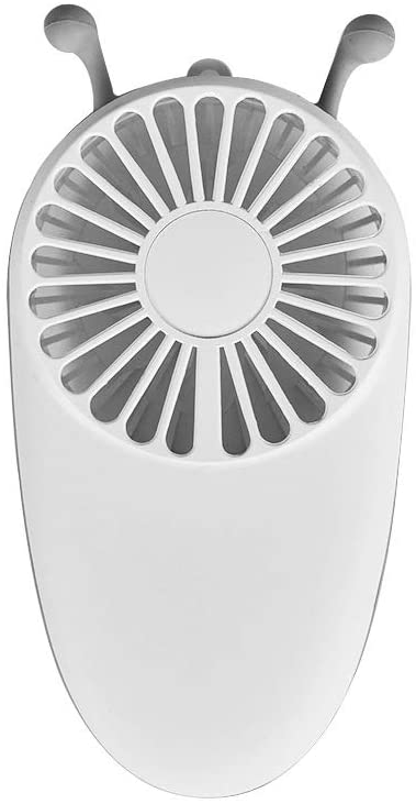 GLOBE AS Summer Rechargeable Portable Bees Small Fans Mute Quiet Handheld Mine Room Air Circulator Fan (Color : White)