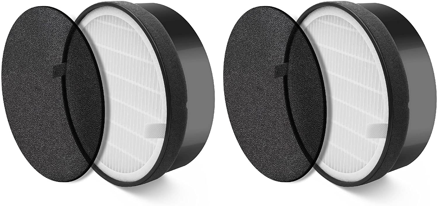 Nispira HEPA Air Filter Replacement Compatible with Levoit Air Purifier LV-H132, Compared to Part LV-H132-RF, 2 Sets