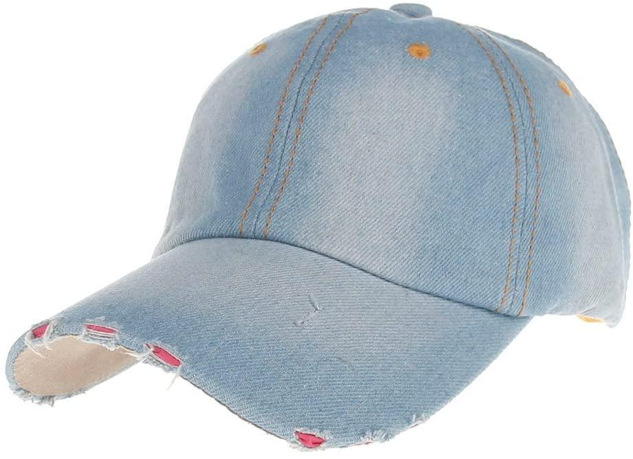 XGao Baseball Cap Women Men, Fashion Mens Womens Jean Sport Hat Casual Denim Baseball Cap Sun for Men Women Classic