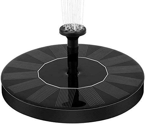 DMM Solar Fountain Pump, Free Standing Solar Powered Fountain Floating Water Pumps for Birdbath Garden and Patio,Pond, Pool