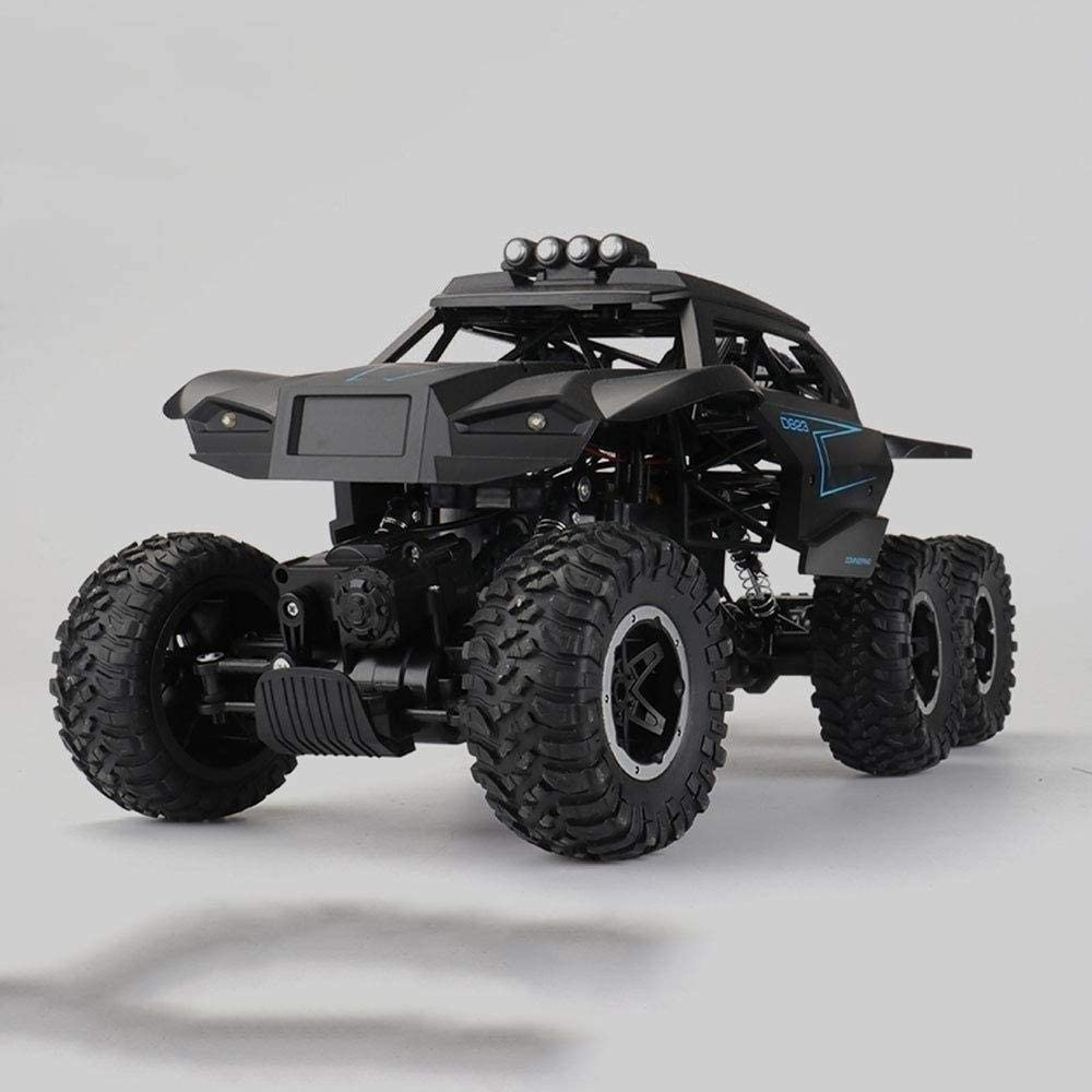 Xuess Six-Wheel Drive Kids RC Toy Cars 2.4Ghz Wireless Electric Creative Replaceable Snow Track Climbing Racing Wireless Remote Control Car Suitable for Any Terrain (Color : Black)
