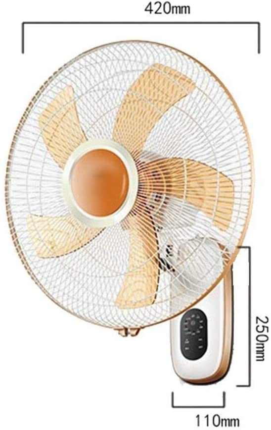 GLOBE AS Wall-Mounted Fans 16 Inch 3 Speed Adjustable Oscillating Rotating with Timer & Remote Low Noise Ideal for Home and Office Room Air Circulator Fan