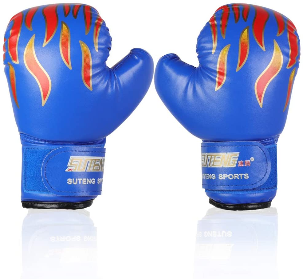 VGEBY Kids Boxing Gloves,Youth Sparring Punching Training Gloves for Age 3-12 Years (Color : Blue)
