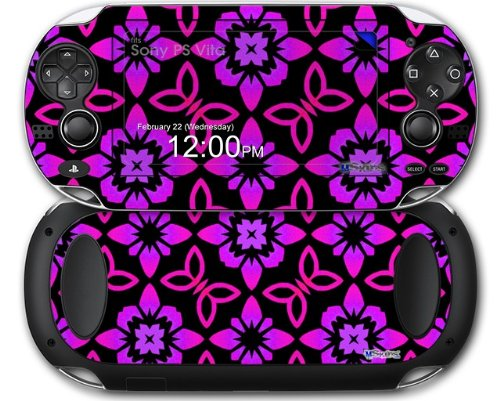 Pink Floral - Decal Style Skin fits Sony PS Vita
