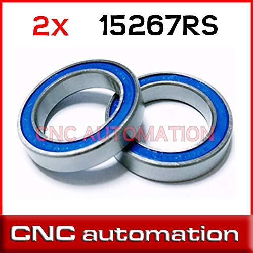 Ochoos 2pcs 15267-2RS GCR15 Ball Bearing 15x26x7mm 15267 RS Bike Wheels Bottom Bracket Repair Bearing MR15267