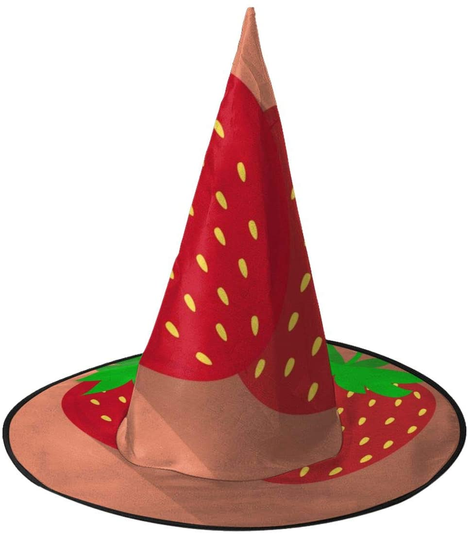 Halloween Witch Hat,Marvellous Strawberry Icon Halloween Costume Witch Hat for Holiday Party