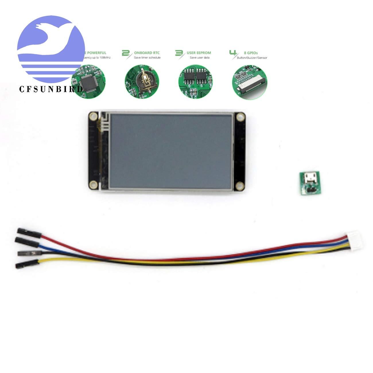 CFsunbird Nextion Enhanced 3.2'' LED Display HMI Touch Display Suppport Memory Care Raspberry Pi by DIY