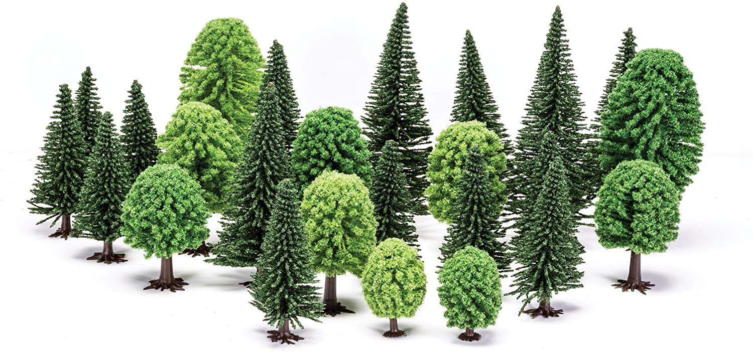 Hornby Skale Scenics Deciduous & Evergreen Fir Trees Mixed Pack 20 Pcs 2