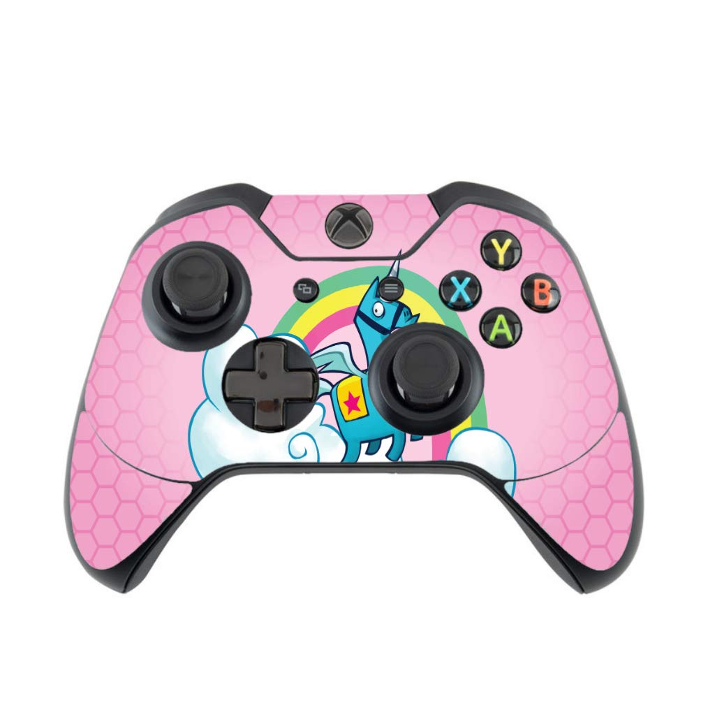 Rainbow Unicorn Pink Background Design Xbox One Controller Vinyl Decal Sticker Skin by egeek amz [video game]