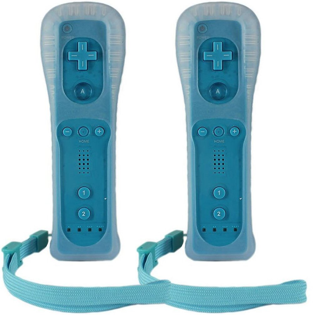 HomeABC Remote Plus Controller for Wii, 2 Pack, Blue