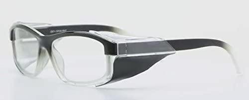Designer Radiation Leaded Protective Eyewear in Full Rim Plastic Frame - Black Fade - 54-18-135mm