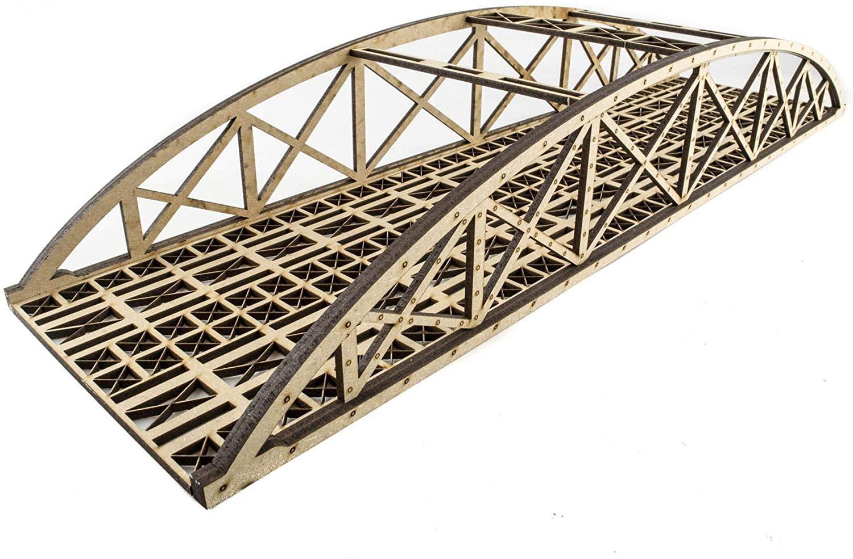 War World Scenics Double Track Hi-Detail Bowstring Bridge 450mm – OO/HO Model Railway Diorama