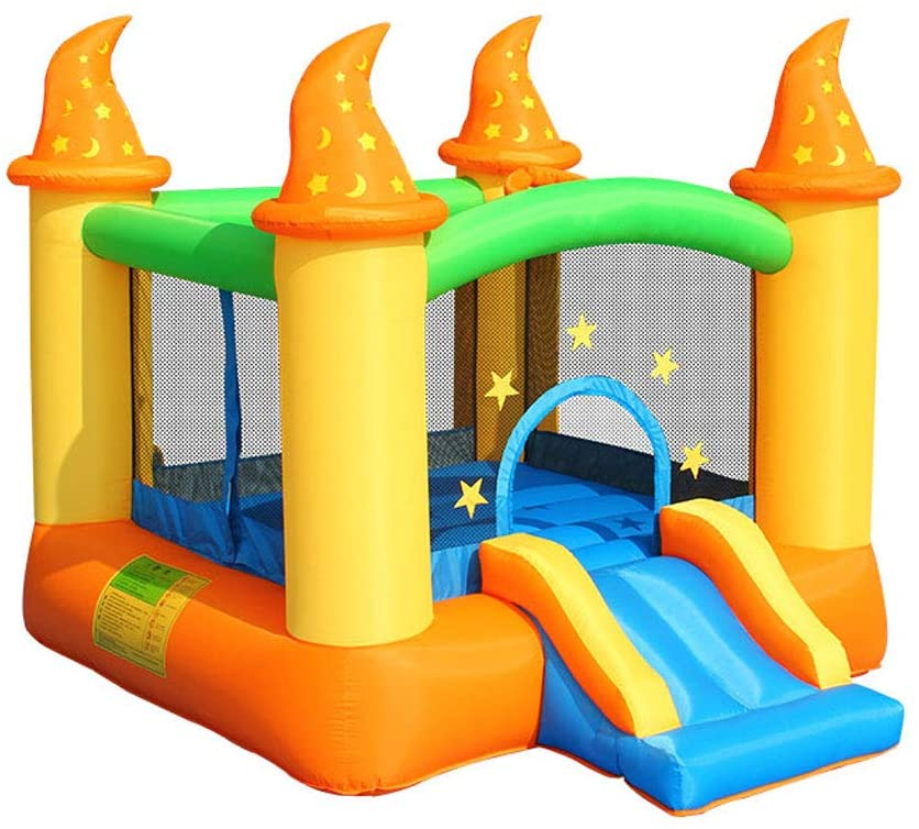 GUO XINFEN Trampoline Home Children Indoor Air Cushion Toy Castle Small Home Kids Inflatable Toy Castle