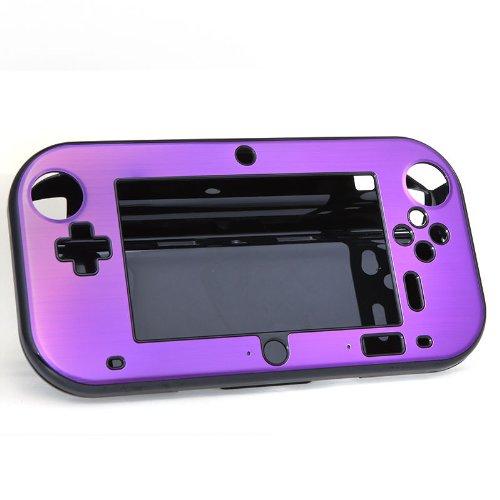Aluminum Cool Cover Case for Nintendo Wii U Gamepad Remote Controller New / Purple