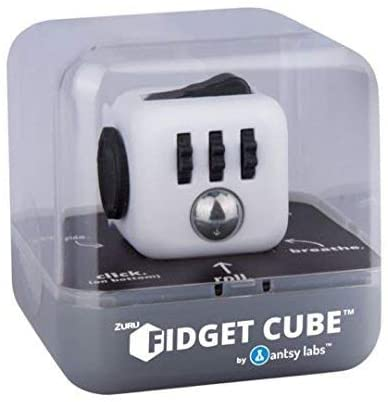 ZURU Fidget Cube by Antsy Labs White/Black - The Original and Still the Best Anti-Stress Toy, Fidget Toy Designed to Help you Focus