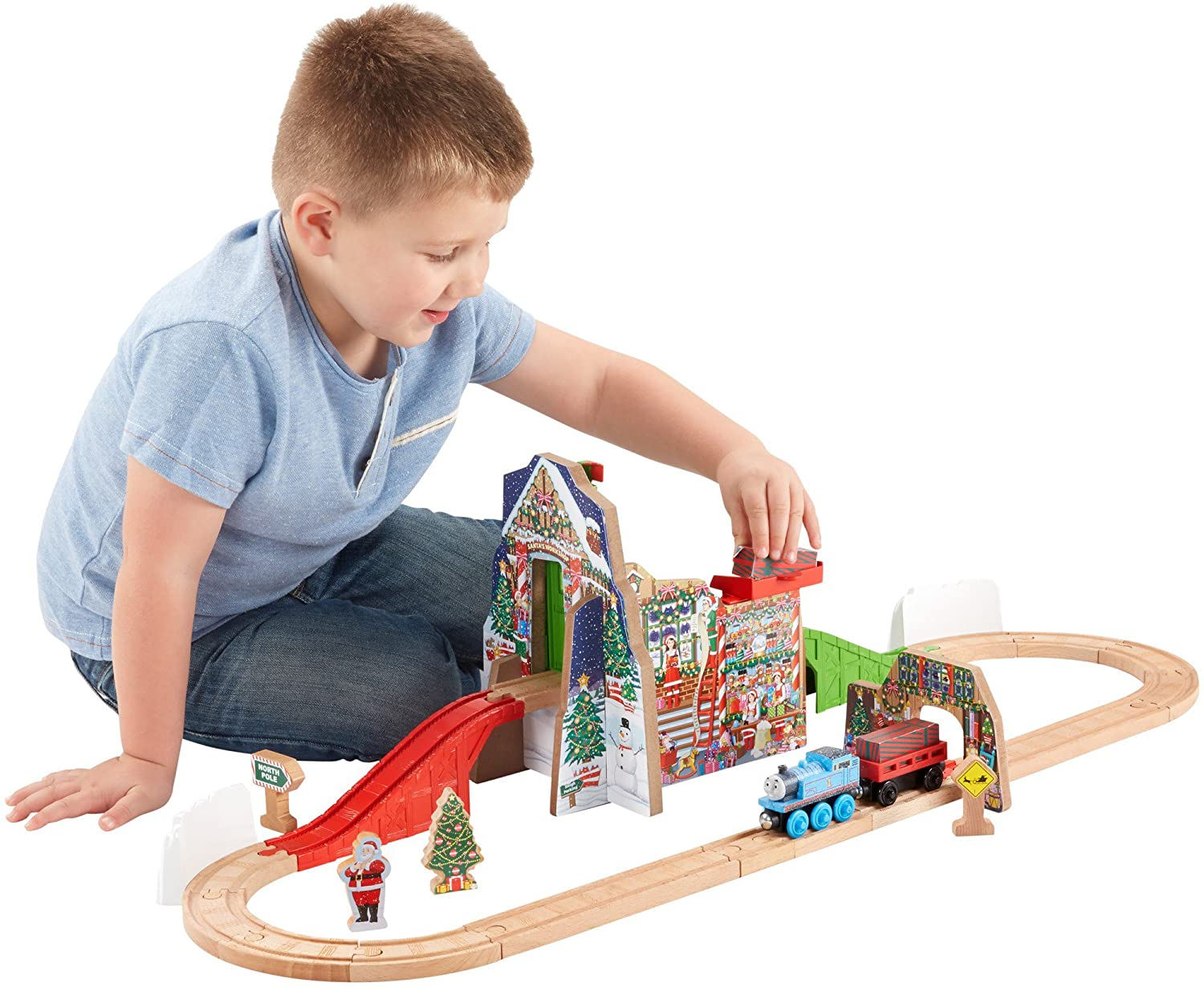 Fisher-Price Thomas & Friends Wooden Railway, Santas Workshop Express