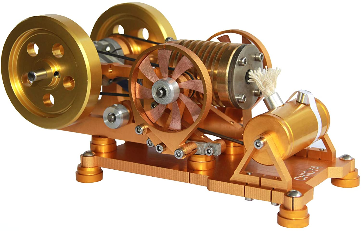 CHICYA Mini Single Cylinder Steam Engine Model Educational Toy,Newly Designed Hot Air Stirling Engine Kits,Hobby Toy for Kids&Adults