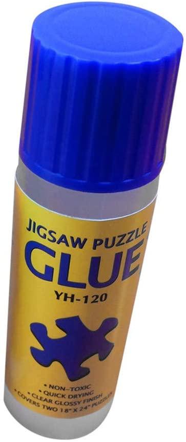 Alangbudu 4 Ounce Non-Toxic Puzzle Glue with Trowel Applicator Puzzle Accessories Puzzle Saver Suitable for 500 1000 Paper Puzzle