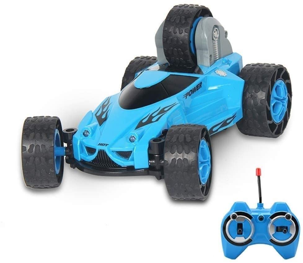 Xuess 1:18 2.4Ghz Off-Road Racing Four-Wheel Drive Racing Charging Stunt Car High Speed Remote Control Car Children Kids Toy Educational Toys (Color : Blue)