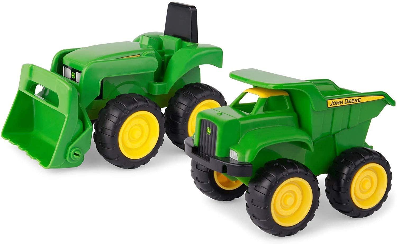 Johnny Tractor Preschool Range - Mini Sandbox Tractor and Dump Truck Set - Suitable from 18 Months