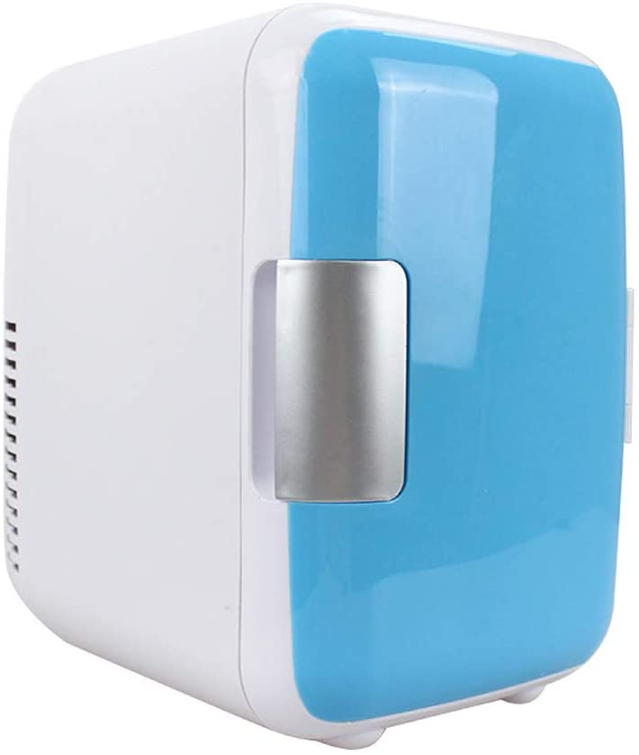 Electric Cooler and Warmer (4Liter),AC/DC Portable Thermoelectric System,Mini car Refrigerator, Cold and Warm Small Refrigerator, Dual Purpose Home and car,Blue