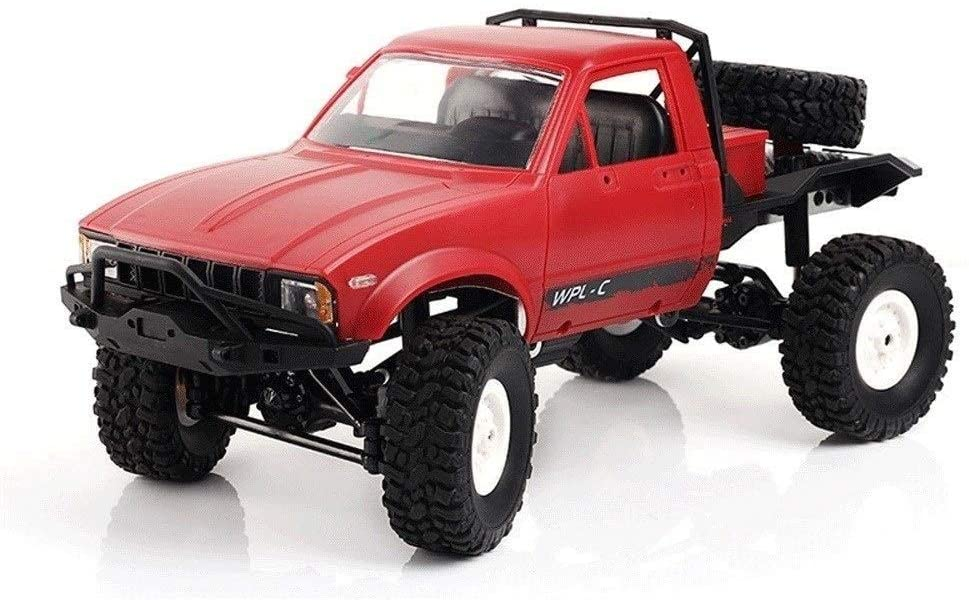 Xuess RC Cars 2.4G 4-Wheel Drive Off-Road Truck Electric RC Car 1:16 2CH 4WD Children RC Truck Top Speed RTR/KIT Mini Racing Car Toy Educational Toys Gift (Color : Red)