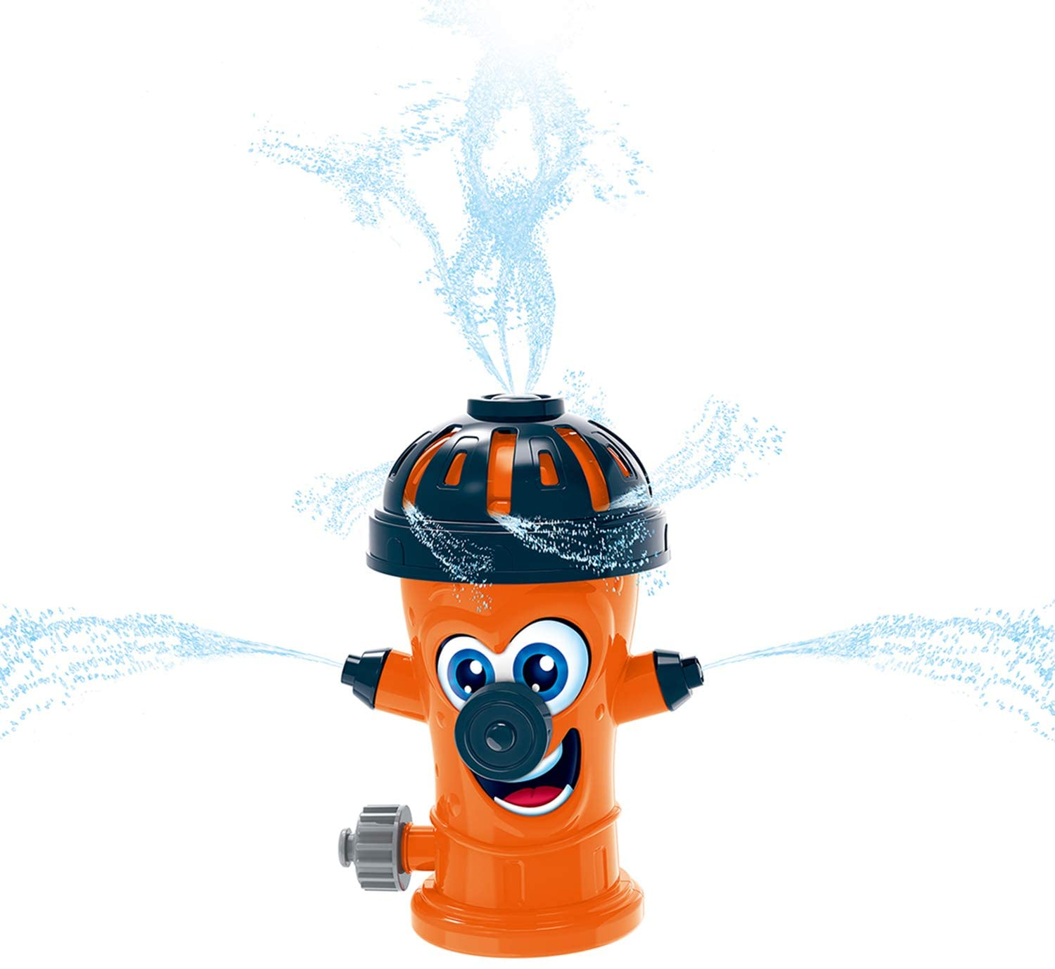 JOINBO New Hydrant Water Sprinkler for Kids, Attaches to Standard Garden Hose,Sprays Up to 10 Feet, Summer Outdoor Fun Toys for 6 Year Old Boys and Girls.(Orange)