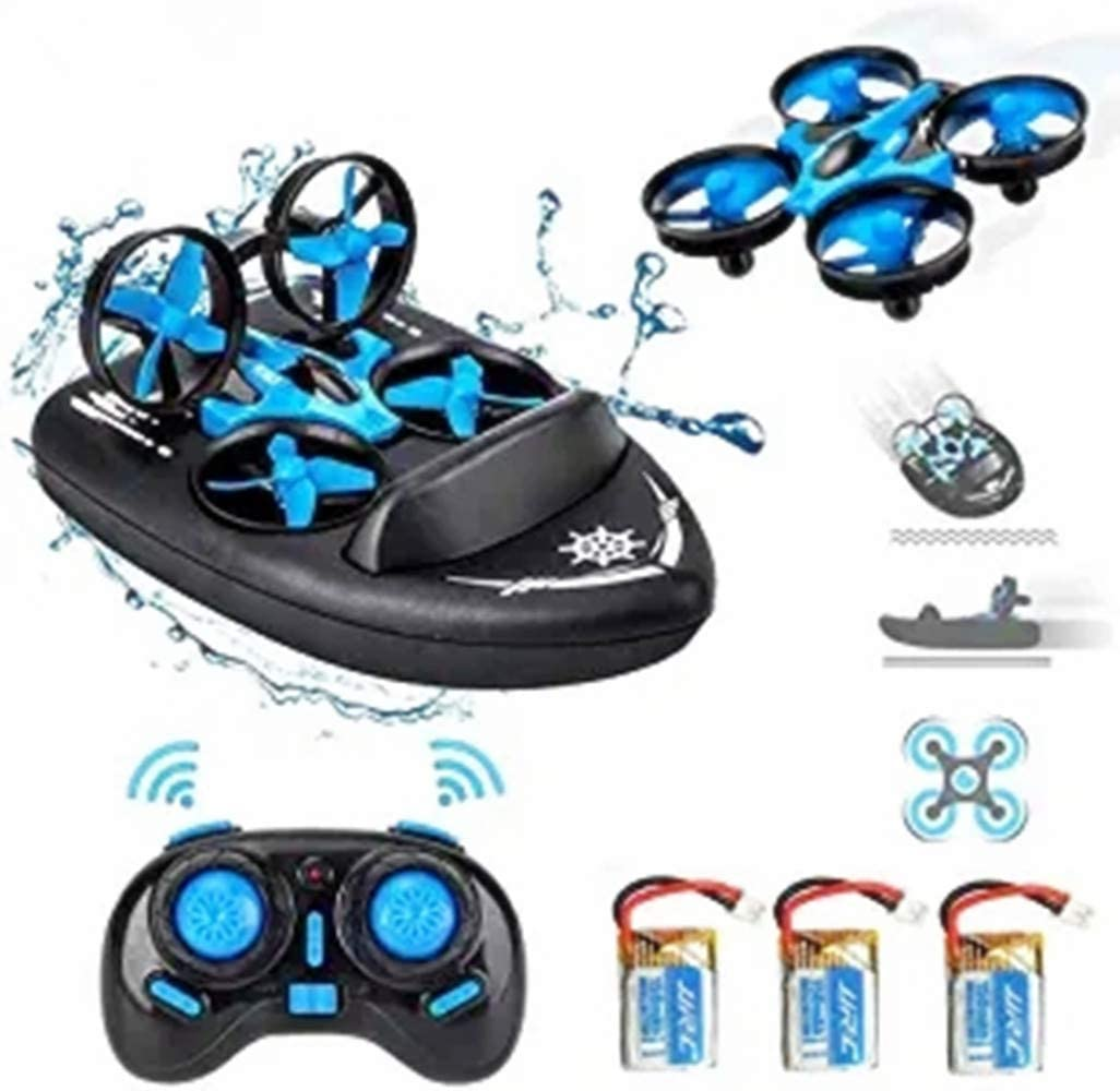 Mobilly Mini Drone JJRC H36F for Kids and Beginners Easy to Fly ,2.4G Remote Control Mini Drone Vehicle Boat , 3 in 1 RC Quadcopter with Headless Mode One Key Home 360°Flips Stunt Flying