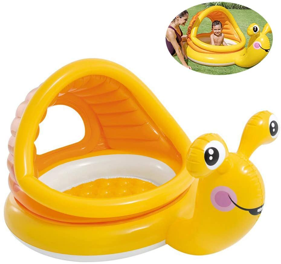 XXSLY Snail Shade Baby Pool, Cartoon Inflatable Paddling Pool, Floating Row Toys for Beach Relaxing Sunbathing Pool Party