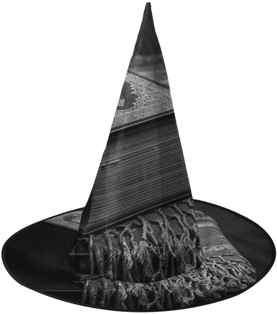 Halloween Costume Witch Hat,Unique Koran - Holy Book Accessory for Holiday Halloween Party