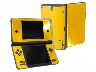 Lemon Yellow Vinyl Decal Faceplate Mod Skin Kit for Nintendo DSi XL (DSi-XL) Console by System Skins