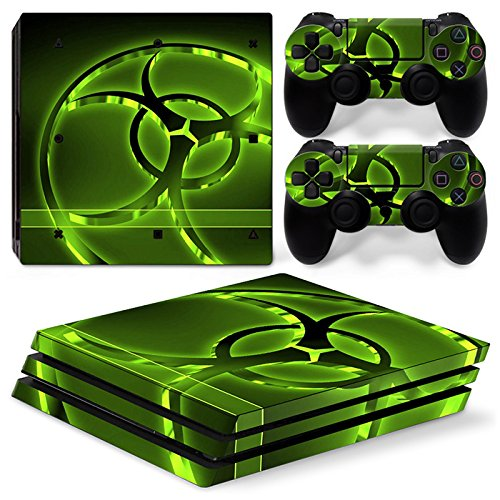 CSBC Skins Sony PS4 Pro Design Foils Faceplate Set - Biohazard 2 Design