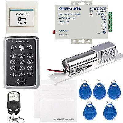 DIY 125KHz RFID ID Card Keyfobs Access Control Kit & Electric Bolt Door Lock