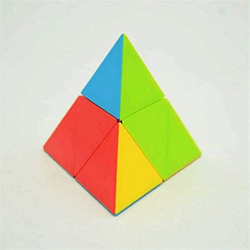 LeFun 2x2 Pyramid Magic Cube Triangle Puzzle Cube Educational Toy for Children Adults