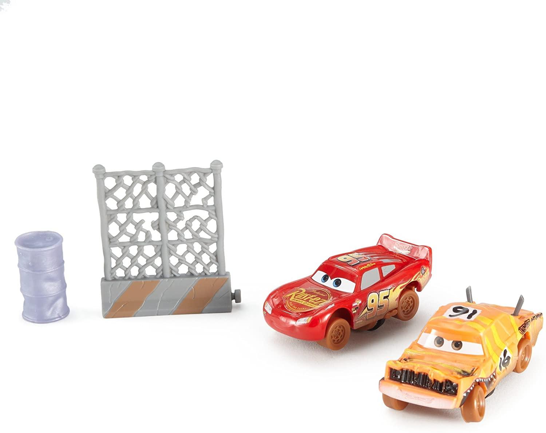 Disney Pixar Cars 3 Crazy 8 Crashers Pushover & Lightning McQueen Vehicle, 2-Pack