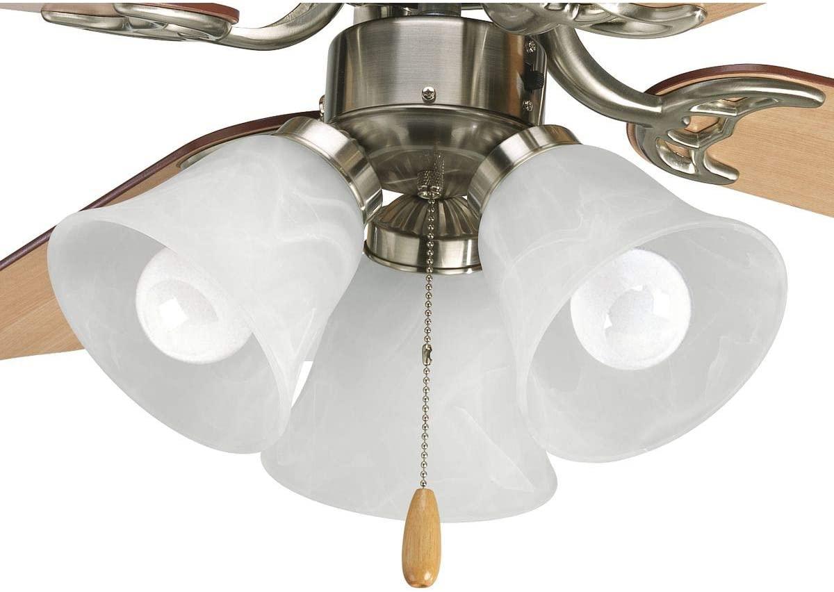 Progress Lighting P2600-09WB AirPro Ceiling Fans, Brushed Nickel