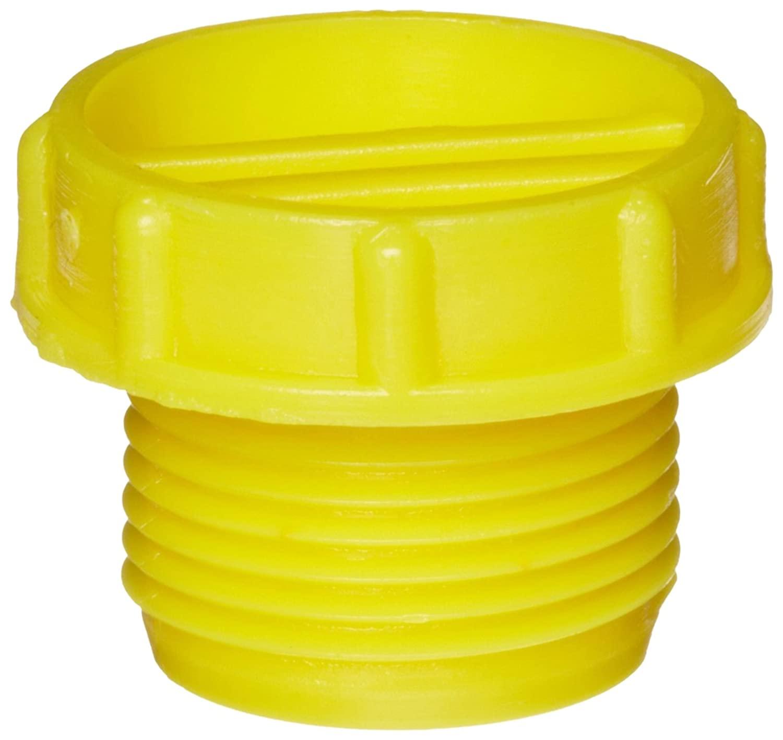 Kapsto 703 M 18 x 1.5 Polyethylene Screw Plug, Yellow, 24 mm Tube OD (Pack of 100)