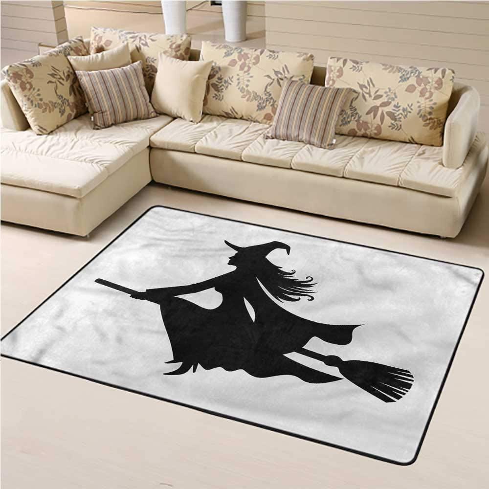 Rugs Witch, Fantasy World Creature Flying Nursery Area Rug for Kids Nursery Teens Room Girls Boys 6 x 9 Feet