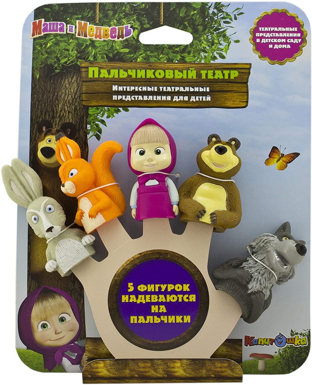 Masha and the Bear Bath Finger Puppets Toys for kids  Masha y el OSO